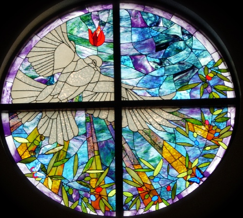 Dove Holy Spirit Stained Glass Church Window Charles Krausert