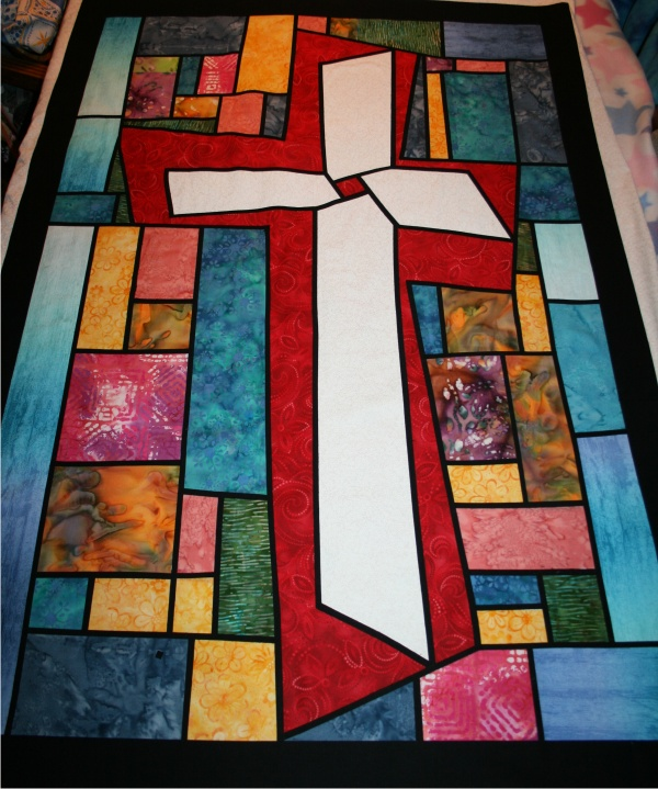 Stained Glass Cross Quilt Pattern Bing Images