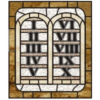 ten commandments stained glass pattern