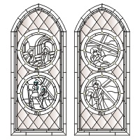 Stations of the cross large church window (2a)