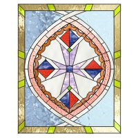 African cross stained glass pattern