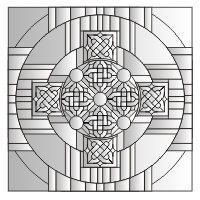 Celtic mandala cross pattern