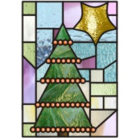 Christmas tree squares stars 2 - $2.00 : Stained glass patterns ...