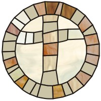 Cross mosaic simple round