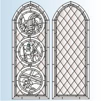 gothic stained glass window patterns   pixshark