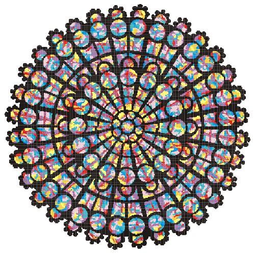 Rose Windows Cross Stitch Gospelglass Custom Interfaith