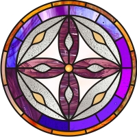 moses cathedra mandala stained glass pattern