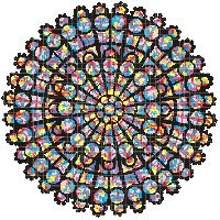 rose window counted cross stitch pattern