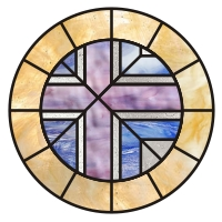 Round Cross stained glass pattern