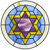 Simple Star Of David Stained Glass Pattern