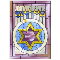 Stars of david menorah