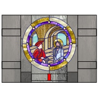 Station I (of the cross) 20.875 x 9.875 inches
